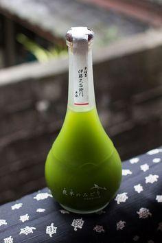 Japanese sake with matcha.