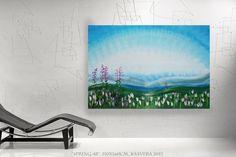 Frühling Malerei Großformat Kunst Romantisches Bild von KsaveraART