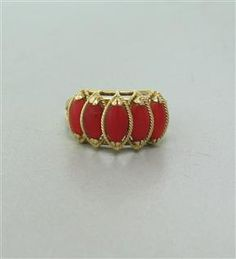 14k Gold Coral Ring. Available @ hamptonauction.com at the Fine Jewelry Watches Coins and Collectibles Auction on November 24th, 2014! Come preview our catalog!