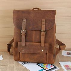 Leather Canvas Backpack Canvas Bag DSLR Camera Bag Material:Canvas, Leather Color:Blue, Khaki, Gray Closure:Drawstring Gender:Unisex Size:33*30*10 cm How to wash a backpack Follow us on Instag...