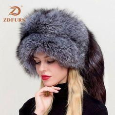 Women's Russian Ushanka Aviator Trapper Fox Fur Bombers Hat ZDH-161013 ❤️ Pin it please on your board Russian Hat, Fur Bomber, Fox Fur, Stay Warm, Hats For Women, Aviation, Winter Hats, Autumn, Fall