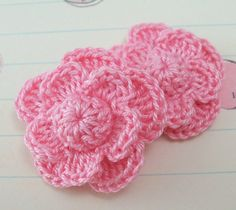 Crochet Small Layered Flowers by FineThreads on Etsy