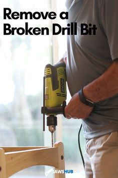 Breaking a drill bit can be frustrating during a project, but with this guide on how to remove them, you will be back to working in no time. #sawshub #working #brokendrillbit #project Drill Bit Sizes, Cheap Tools, Great Gifts For Men, Hammer Drill, Stick It Out, Home Repair, Home Improvement Projects, Cleaning Hacks, How To Remove
