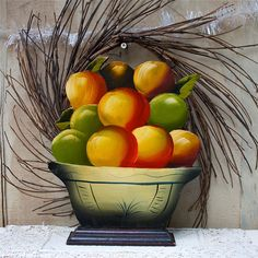 Vintage primitive wooden fruit basket autumn by oldkeysvintage, $18.00