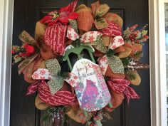 Rustic Christmas wreath, Winter wreath, holiday mesh wreath, front door wreath, cardinal wreath, pinecones  by ShellysChicDesigns on Etsy