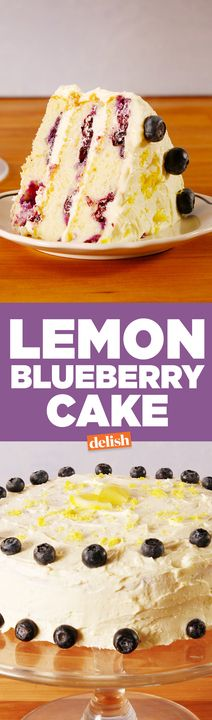 This Lemon Blueberry Cake is the spring dessert you're going to be obsessed with. Get the recipe from Delish.com.