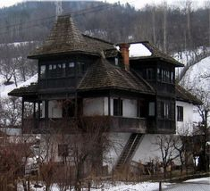 Rural House, My House, Old Country Houses, Backyard Patio Designs, Mountain Homes, Bucharest, My Dream Home, House Plans, House Design