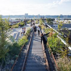 "The High Line at the Rail Yards. The High Line is a ""pulling-back from architecture""  say Diller and Scofidio."