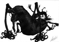 El sirviente sin forma de Tsathoggua el gran Dios sapo (pariente de Cthulhu por cierto) estos seres están directamente controlados por él, son un liquido negro que puede adoptar distintas formas o ...