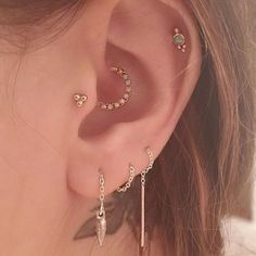 Image result for industrial ear piercing ideas