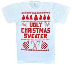 bdee399e5 Mens ugly christmas sweater - womens tacky christmas sweater party t shirt.  $18.00, via