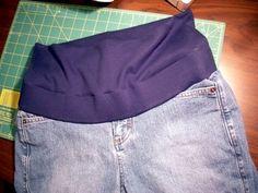 T R I C O L L A G E...: Customizando Calça Jeans para Calça Gestante