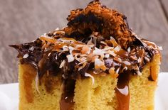 Samoa Poke Cake Is Not Only Delicious, But Also Super Fun To Make