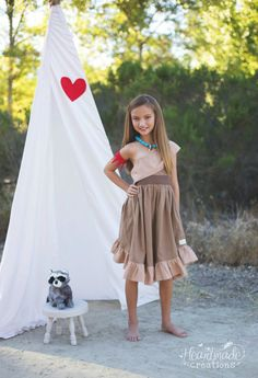 Pocahontas  Everyday Princess Dress  by HeartmadeCreations on Etsy, $50.00