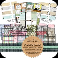 Overlays, Calender Cards, Banners, Tickets and Journal Cards