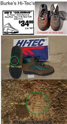 Burke's Hi-Tec boots. Hi Tec Boots, Jonbenet Ramsey Case, Conspiracy Theories, Curiosity, Twilight, Vodka, Creepy, Crime
