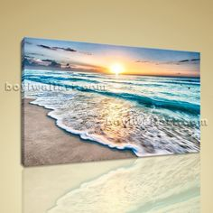 "Huge High Quality Giclee Prints On Canvas Contemporary Landscape Beach Ocean Extra Large Wall Art, Gallery Wrapped, by Bo Yi Gallery 36""x24"". Huge High Quality Giclee Prints On Canvas Contemporary Landscape Beach Ocean Subject : Beach Style : Photography Panels : 1 Detail Size : 36""x24""x1 Overall Size : 36""x24"" = 91cm x 61cm Medium : Giclee Print On Canvas Condition : Brand New Frames : Gallery wrapped [FEATURES] Lightweight and easy to hang. High revolution giclee artwork/photograph…"