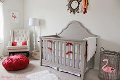 This really clues me in to what I'm loving about rooms lately - lots of white & light neutrals, with pops of bold bright colour. And no, I'm not pregnant and not planning a nursery :)