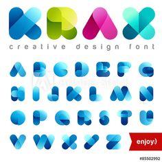 Rounded Transparent Font design vector editable. Friendly Alphab