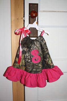 Camo Ruffle Pillowcase Dress