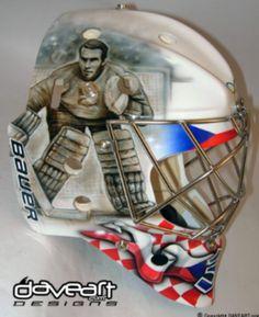 Ondrej Pavelec Czech Republic olympic mask.