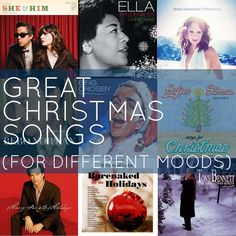 Great Christmas songs for different moods: Over 80 different songs, complete with Spotify playlists.