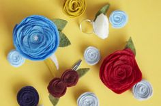 Add a touch of whimsy to jewelry and more with our handmade flower accessories. Find more homemade gift and easy craft ideas on Home Made Simple.