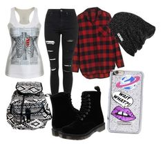 """""""Untitled #87"""" by steamynightmare on Polyvore featuring Madewell, Topshop, Dr. Martens, Neff and Skinnydip"""