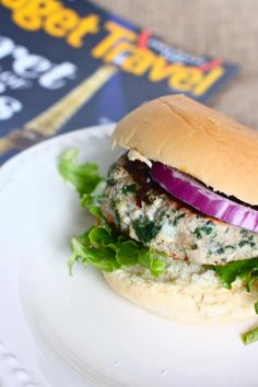 Spinach & Feta Turkey Burger recipe - Use a whole wheat bun for even more healthy goodness!