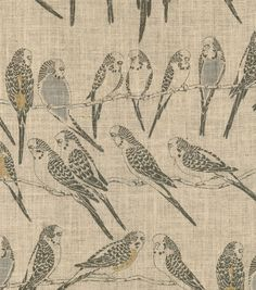 Waverly On Line Natural Burlap - Could use this to reupholster dining room chairs or make pillows out of