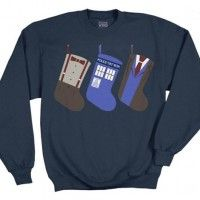 Doctor Who Christmas Stockings Blue Sweater