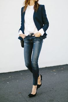 Party In The Back via could i have that? Hudson's Lilly Midrise Ankle Skinny in Battalion
