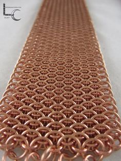 Chainmaille Bracelet   Copper Dragonscale by LoonerCreations