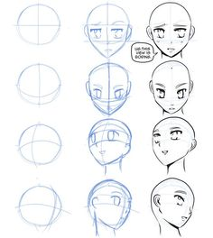 how to draw manga faces | http://amimestuffs.blogspot.com I