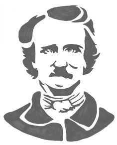 I'm sure this won't be the only post in 31 Days of Halloween to feature that great American writer of the Gothic, Edgar Allan Poe. Pumpkin Template, Pumpkin Carving Templates, Halloween Pumpkin Stencils, Halloween Pumpkins, Pumpkin Crafts, Pumpkin Ideas, 31 Days Of Halloween, Holidays Halloween, Halloween Halloween