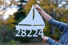 This is a custom made address sign from Seattle, Washington. I am selling the FIRST ONE PICTURED. DETAILS: ♥ ♥ ♥ This posting is for ( 5 )
