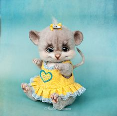SOLD Needle felted mouse Lucy by trinnytoy on DeviantArt