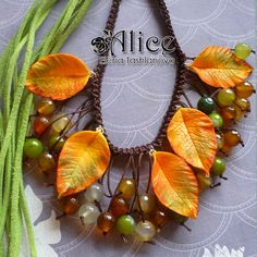 Woodland Dreams Berry Necklace Agate Modena Clay by AlicesJardin