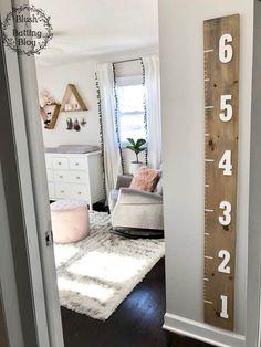 New Ideas Baby Girl Nursery Room Ideas Grey Rockers Baby Bedroom, Baby Room Decor, Kids Bedroom, Room Baby, Diy Nursery Decor, Baby Girl Rooms, Nursery Room Ideas, Cheap Nursery Ideas, Baby Nursery Organization