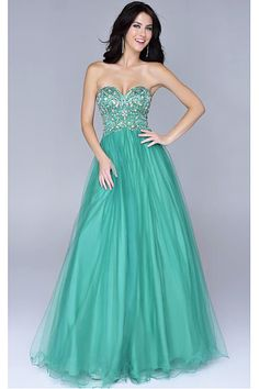 Classy Plus Size Empire Backless Tulle Floor-length Prom Dresses