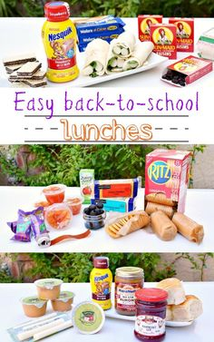 easy back to school lunches for kids