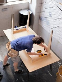 It's a simple DIY project with an elegant result: Buy a single sheet of birch plywood and you'll be able to cut all the pieces you need for this table.