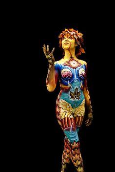 body painting art work world festival creative best beautiful award winning