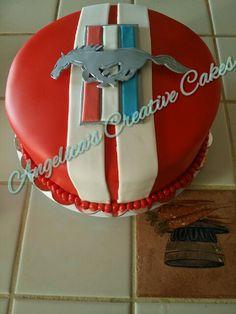 Ford Mustang Logo birthday cake