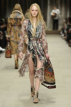 scarf print dresses and scarf wraps Burberry Prorsum RTW Fall 2014 - Slideshow - Runway, Fashion Week, Fashion Shows, Reviews and Fashion Images - WWD.com
