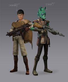 Kitster and Wald: Bounty Hunters (Rebels Fan-Art) by Brian-Snook on DeviantArt