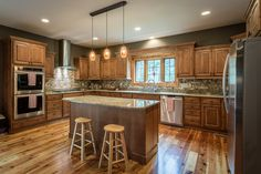 From Classic Granite Counter Tops To Refinished Barn Wood Oak Floors, This  Kitchen Is The