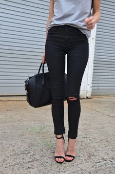 black ripped - (Discover Sojasun Italian Facebook, Pinterest and Instagram Pages!) #fashion #beautiful #pretty Please follow / repin my pinterest. Also visit my blog http://fashionblogdirect.blogspot.dk