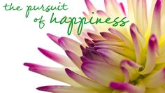 The Pursuit of Happiness - Recipes and Being Crafty