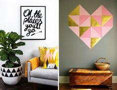 Tendência na decoração - formas geonétricas - triângulos